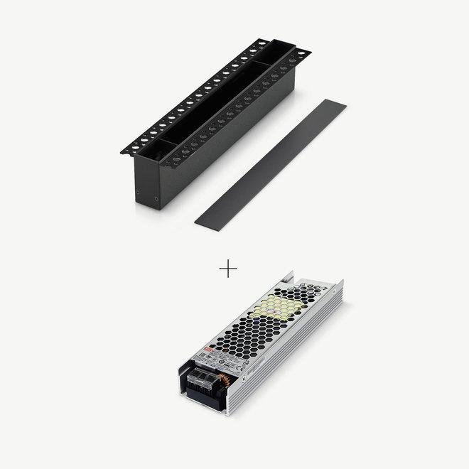 CLIXX magnetisch rail verlichtingssysteem - accessoires inbouw driverbox - zwart