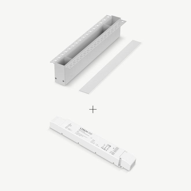 CLIXX magnetisch rail verlichtingssysteem - accessoires inbouw driverbox - wit