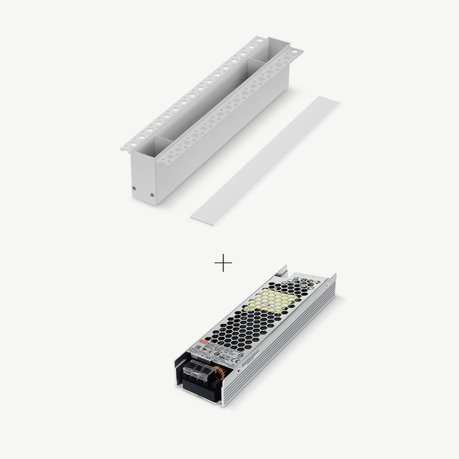 CLIXX magnetic track light system - accessories recessed driverbox - white