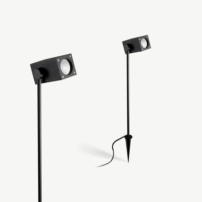 Square LED spike spot SPIKE medium black