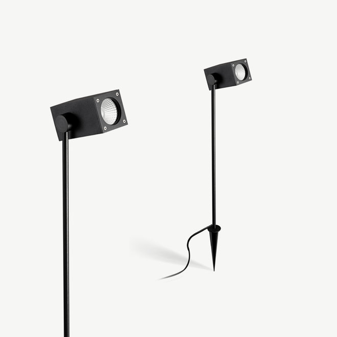 Vierkante LED prikspot SPIKE medium zwart