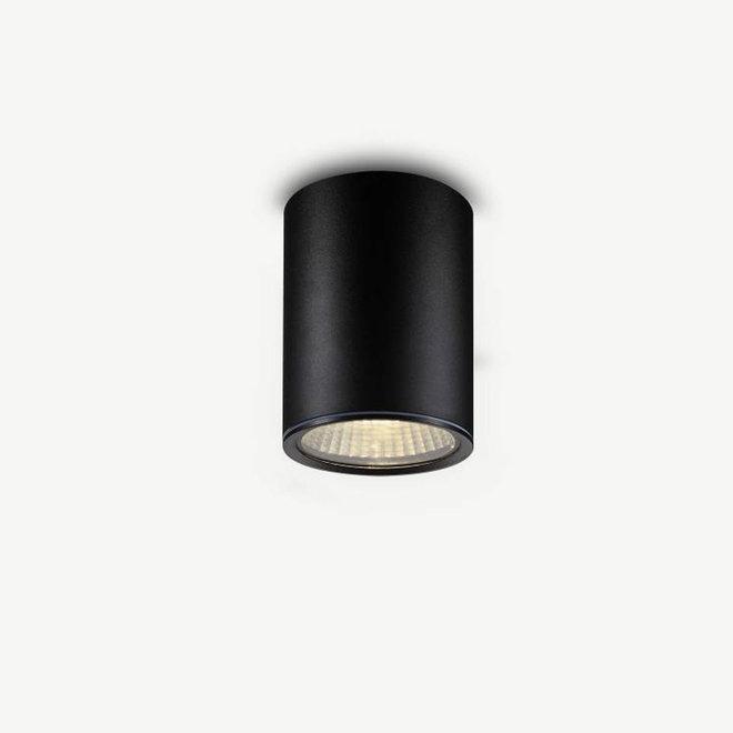 Round LED outdoor ceiling lamp RONDO medium black