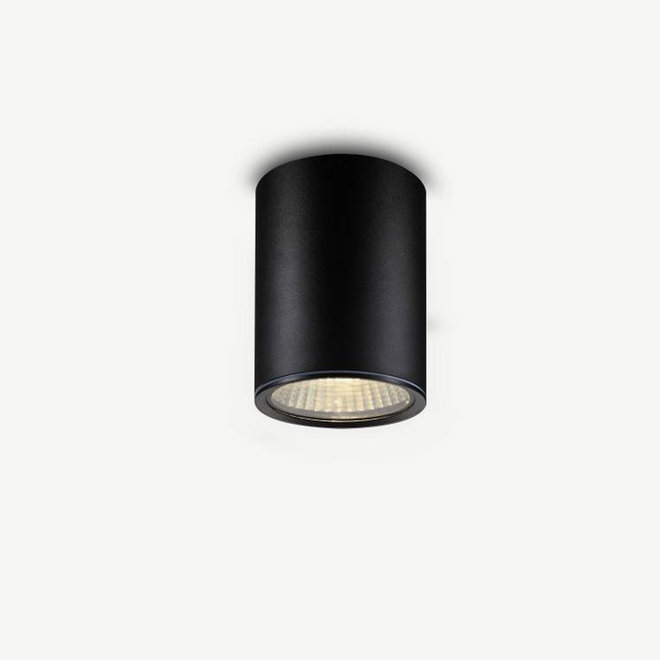 Ronde LED buiten plafondlamp TUUB middel zwart