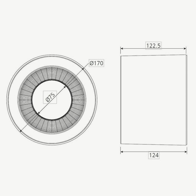 Downlight Surface Mounted  Black Triple-White Dimmable