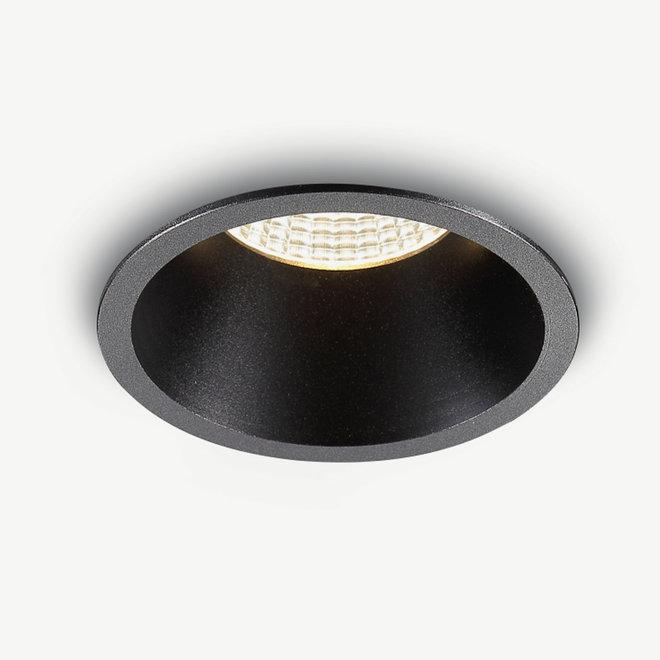 LED recessed spot COB 9 W black