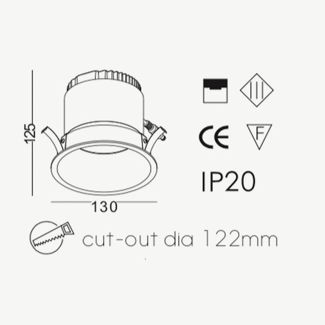 LED Inbouwspot COB 12 W zwart