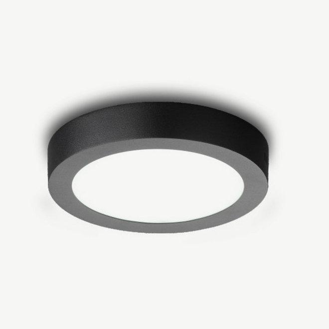 LED FLAT ceiling lamp round groot black