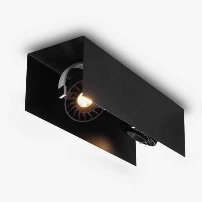 Modern LED ceiling lamp HYDE small 430 mm black