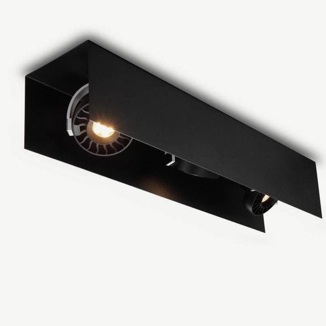 Modern LED ceiling lamp Hyde big 660 mm Black