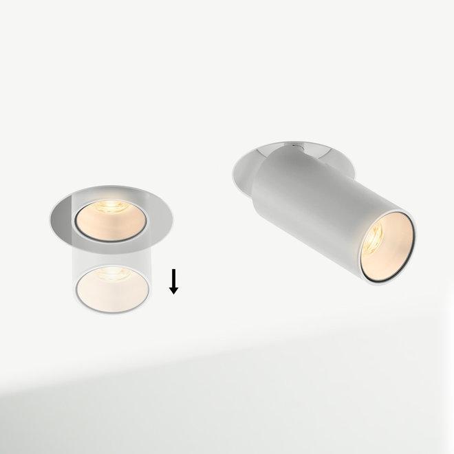 Retractable recessed trimless LED spot PEEK - white
