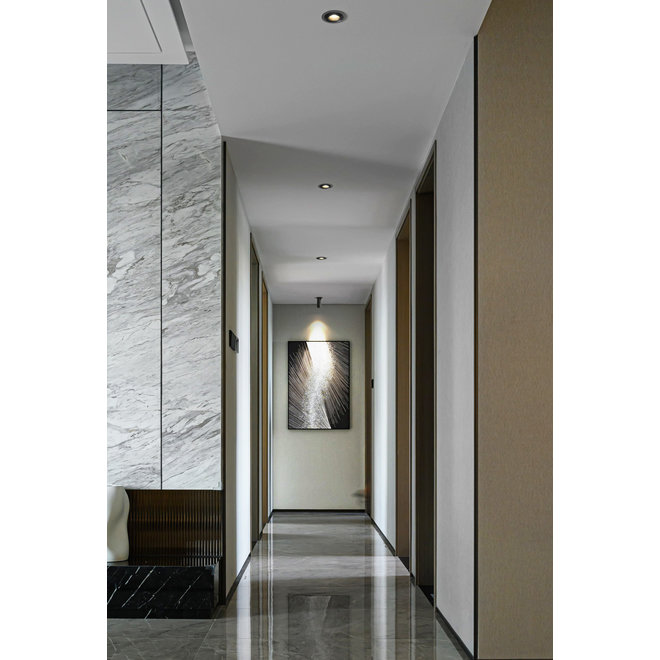 Retractable recessed LED spot PEEK - white