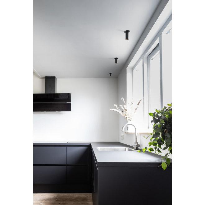 Retractable recessed LED spot PEEK - black