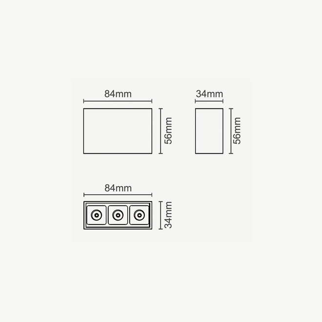 CLIXX magnetisch rail verlichtingssysteem - DOT03 LED module  - zwart