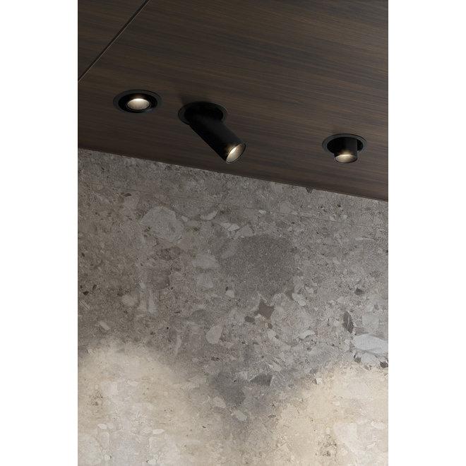 Uitschuifbare inbouw LED spot PEEK - zwart