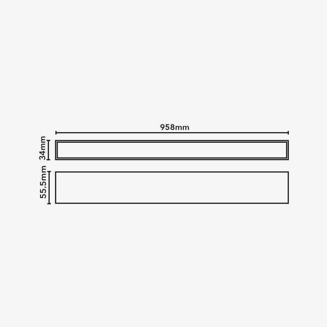 CLIXX magnetisch rail verlichtingssysteem - LINE96 LED module - wit