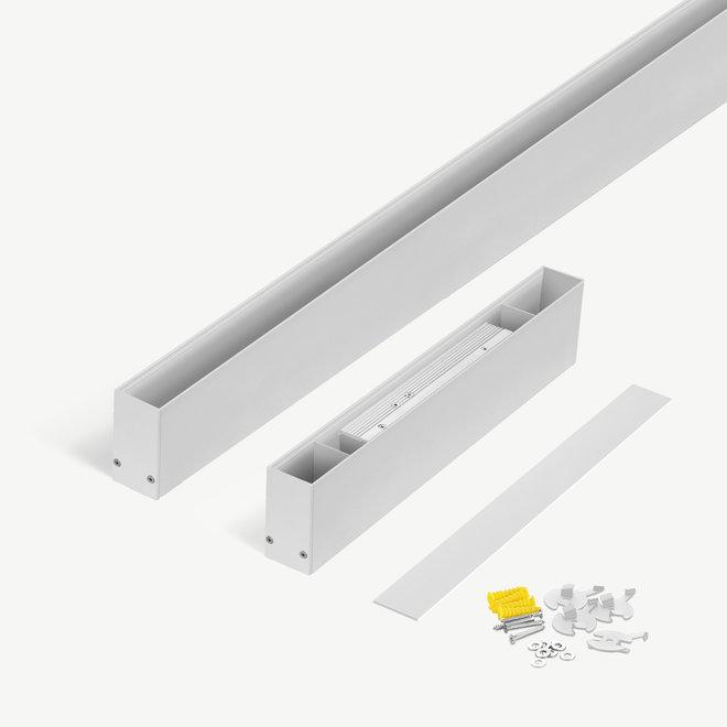 CLIXX magnetische tracks  - opbouw starter set - wit