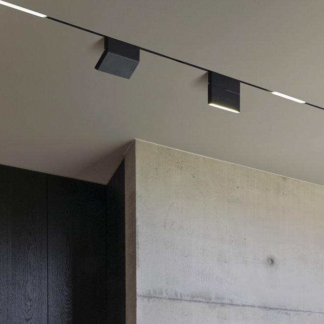 CLIXX magnetisch rail verlichtingssysteem - inbouw (trimless) starter set - zwart