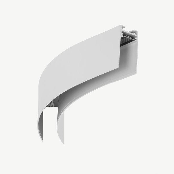 CLIXX magnetische track onderdelen - opbouw/pendel 1/8 cirkel verbinding - wit