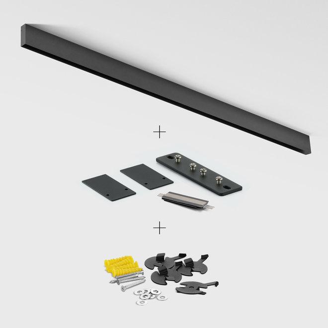 CLIXX SLIM magnetisch rail verlichtingssysteem - opbouw starter set - zwart