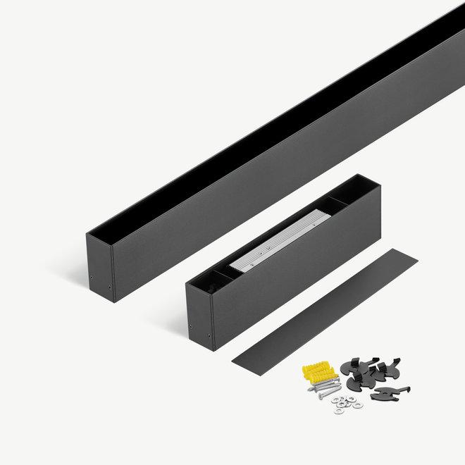 CLIXX SLIM magnetische tracks  - opbouw starter set - zwart