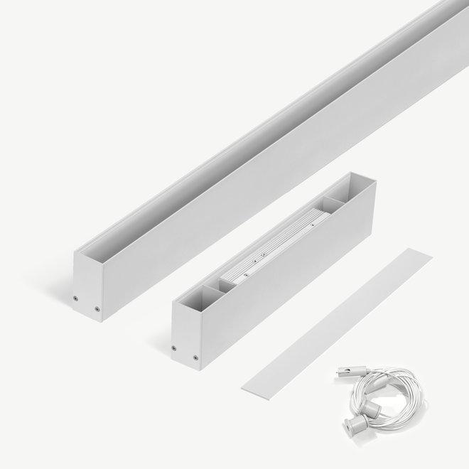 CLIXX SLIM magnetic track light system - pendant starter set - white