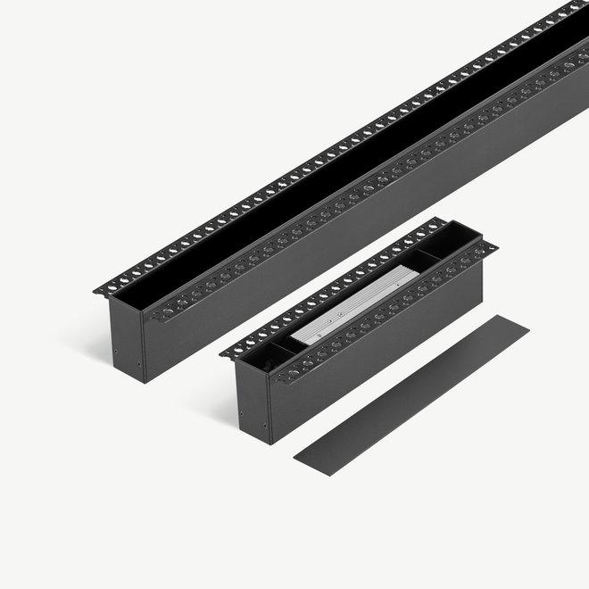 CLIXX SLIM magnetic tracks - recessed (trimless) starter set - black