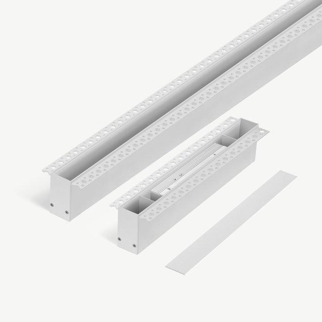 CLIXX SLIM magnetic tracks - trimless recessed starter set - black - white