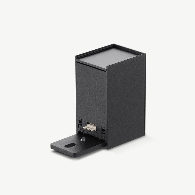 CLIXX SLIM magnetisch rail verlichtingssysteem - accessoires input terminal - zwart