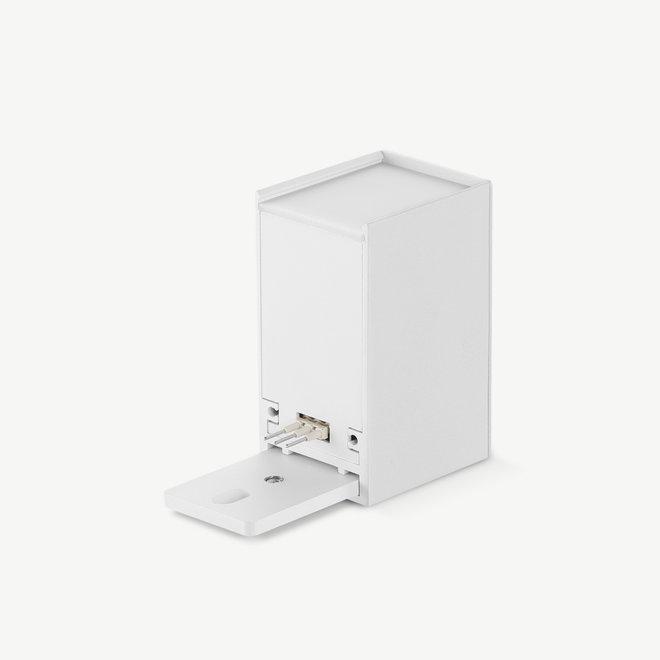 CLIXX SLIM magnetisch rail verlichtingssysteem - accessoires input terminal - wit