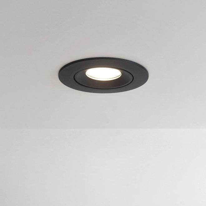 Recessed LED ceiling spot FLEXX tiltable round - black