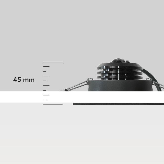 Inbouw LED plafondspot FLEXX kantelbaar rond - goud