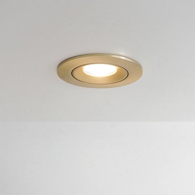 Inbouw LED spot FLEXX kantelbaar rond - goud