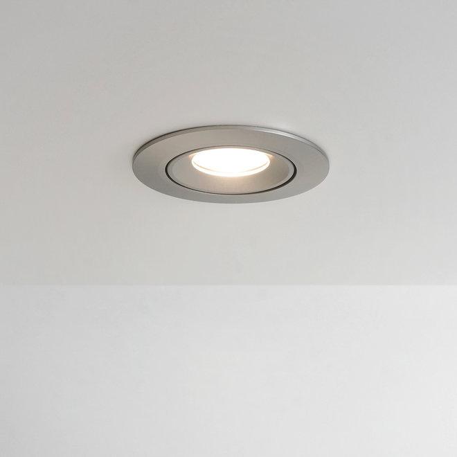 Recessed LED spot FLEXX tiltable round - inox