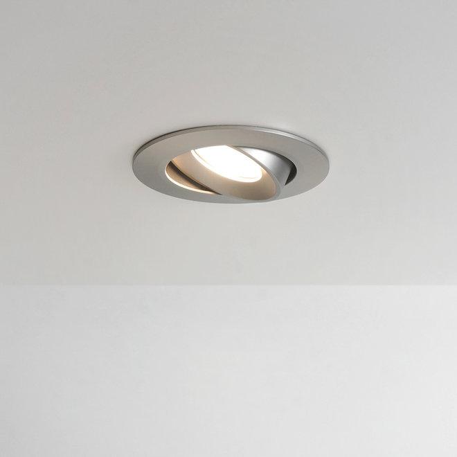 Recessed LED ceiling spot FLEXX tiltable round - inox