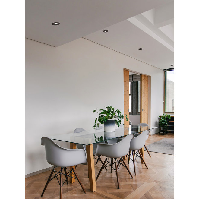 Recessed LED ceiling spot FLEXX tiltable round - white
