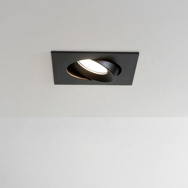 Inbouw LED plafondspot FLEXX kantelbaar vierkant - zwart