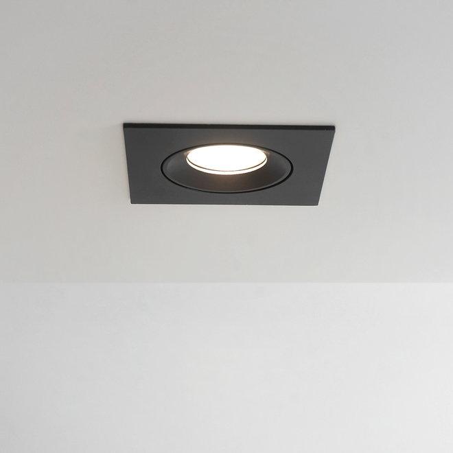 Recessed LED spot FLEXX tiltable square - black