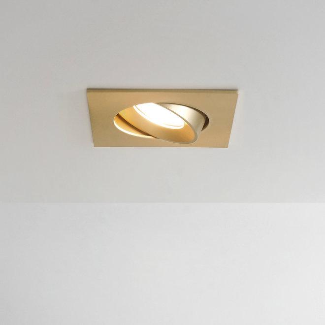 Recessed LED ceiling spot FLEXX tiltable square - gold