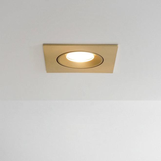 Recessed LED spot FLEXX tiltable square - gold