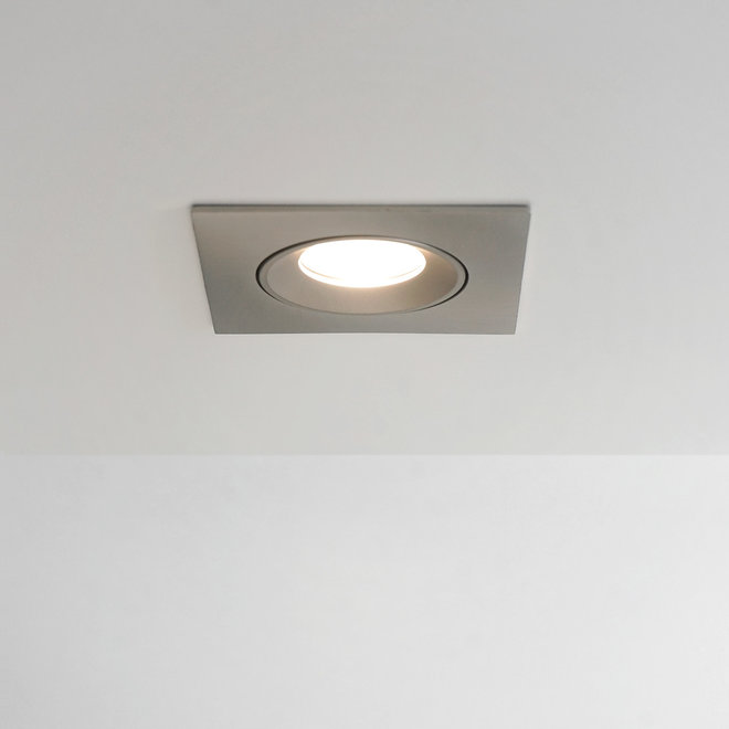 Inbouw LED spot FLEXX kantelbaar vierkant - rvs