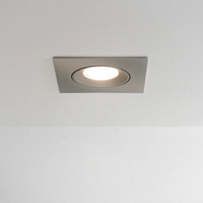 Recessed LED spot FLEXX tiltable square - inox