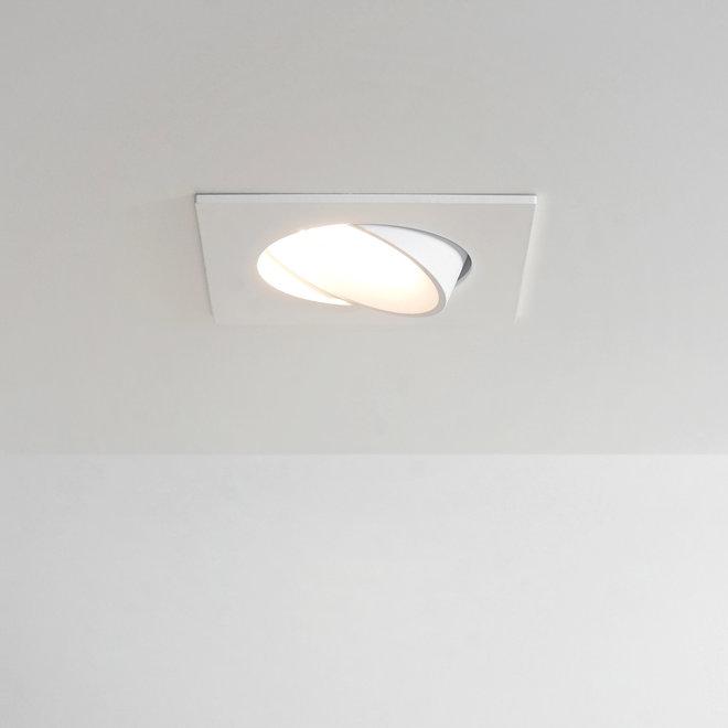 Inbouw LED plafondspot FLEXX kantelbaar vierkant - wit