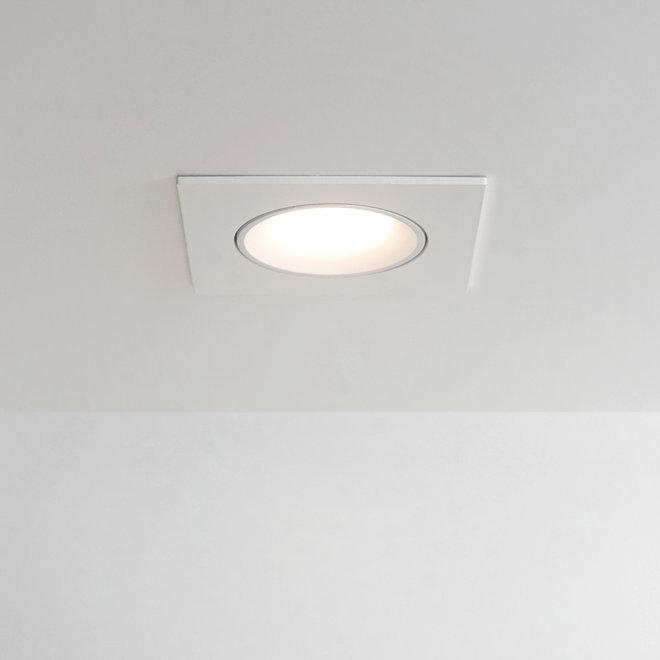 Recessed LED ceiling spot FLEXX tiltable square - white