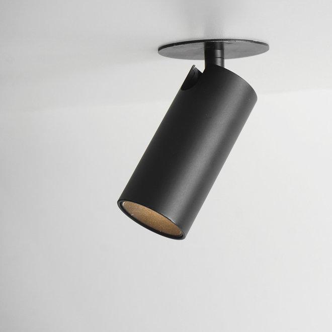 Recessed mini LED spot SPOT30 adjustable - black