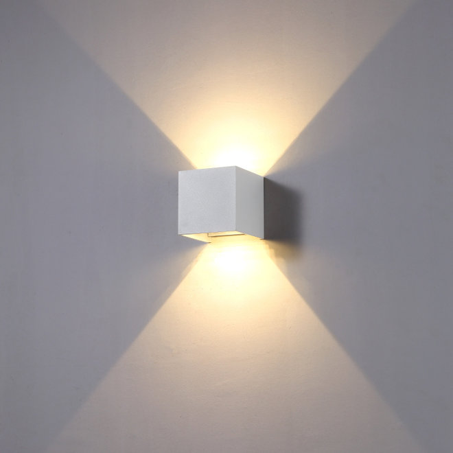 LED indoor/outdoor wall lamp BOXX square White Dimmable
