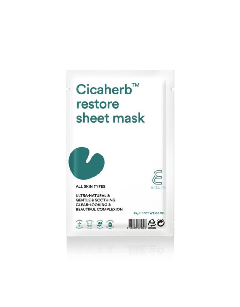 E Nature Cicaherb Restore Natuurlijke Sheet Gezichtsmasker