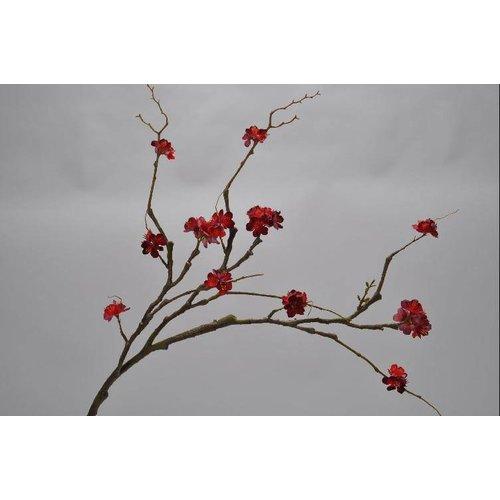 Blossom branch red 80 cm
