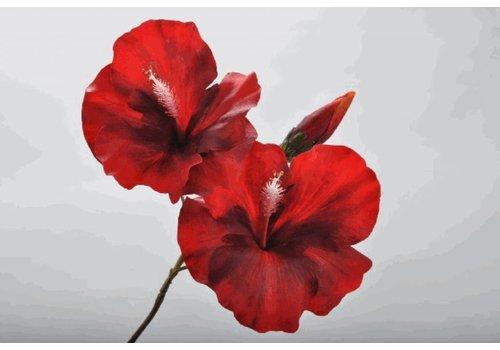 Fine Asianliving Hibiscus Steker Rood 42 cm