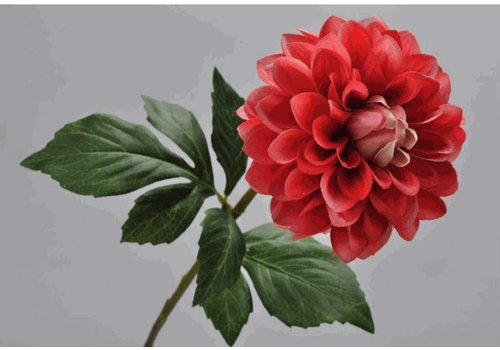 Fine Asianliving Dahlia branch flame 58 cm