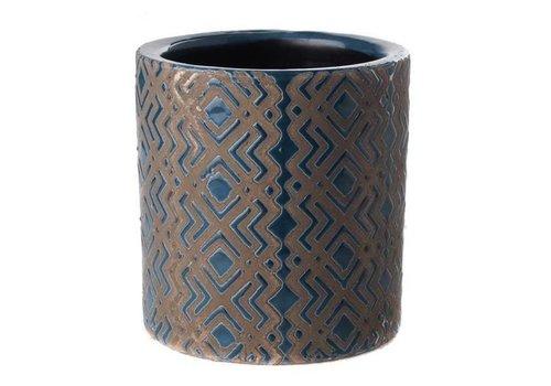 Fine Asianliving Pot Dark Blue Ethnic